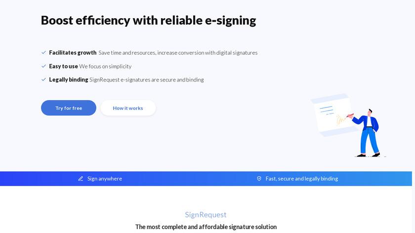 SignRequest Landing Page