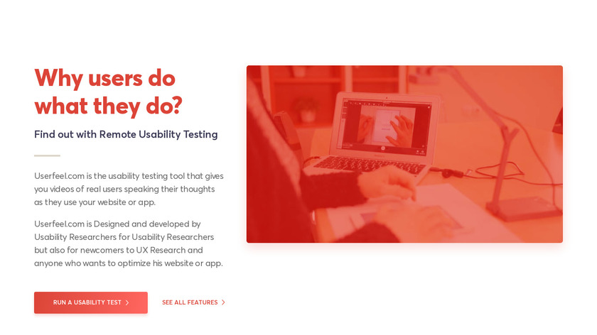 Userfeel.com Landing Page