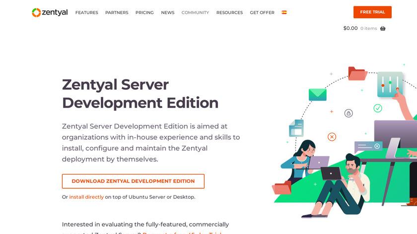 Zentyal Landing Page