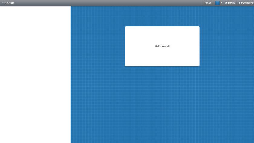 CSSDesk Landing Page