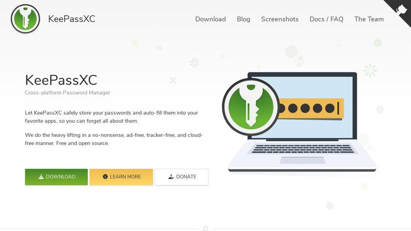 KeePassXC Landing Page