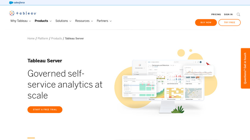 Tableau Server Landing Page