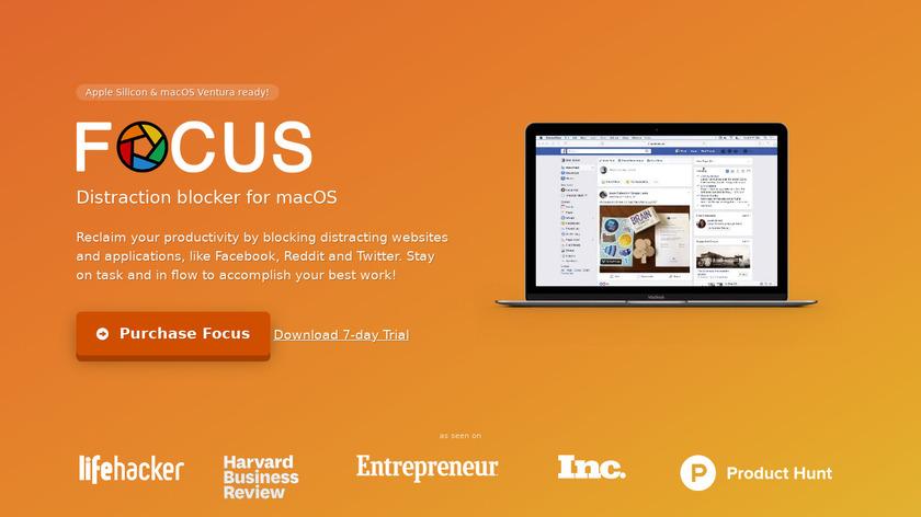 Focus Landing Page