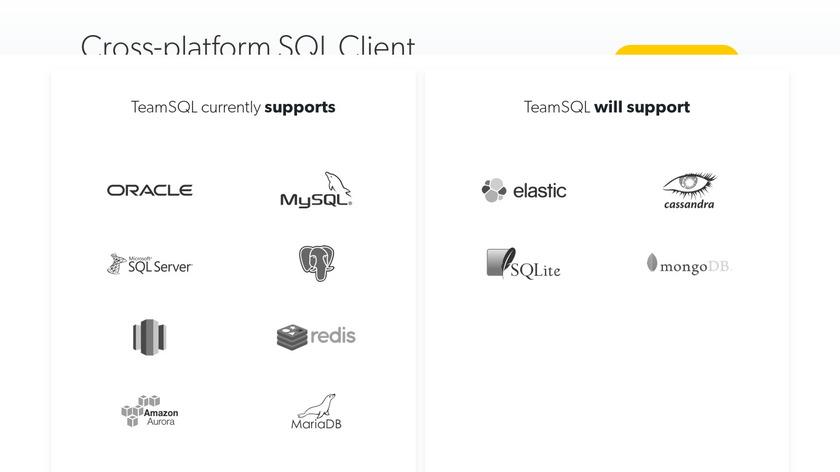 TeamSQL Landing Page