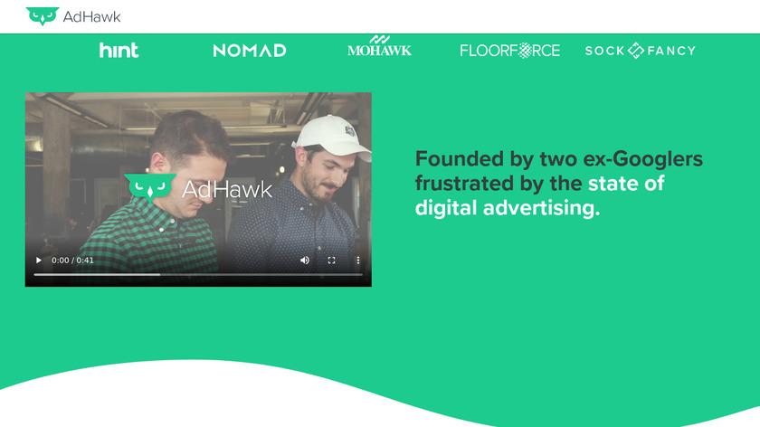 AdHawk Landing Page