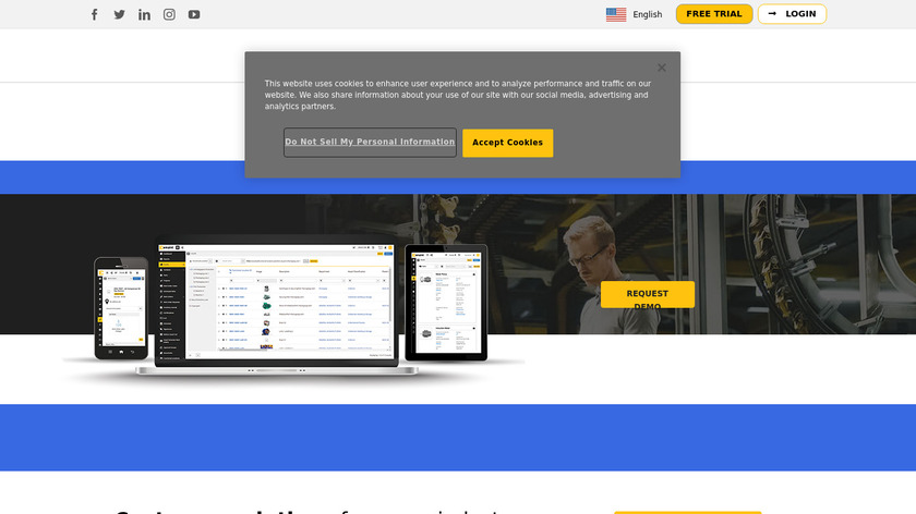 eMaint CMMS Landing Page