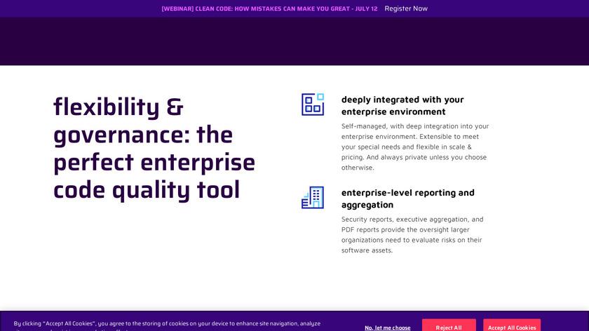 SonarQube Landing Page