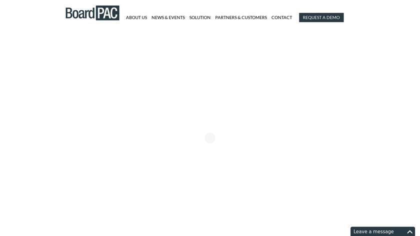 BoardPAC Landing Page