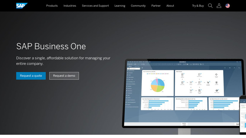 SAP Business One Landing Page