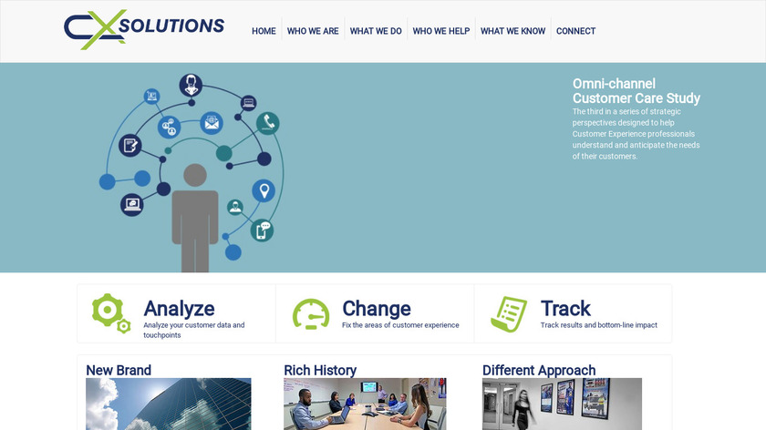 CX Solutions Landing Page