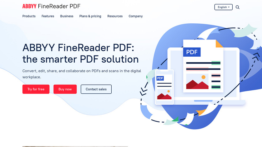 ABBYY FineReader 14 Landing Page