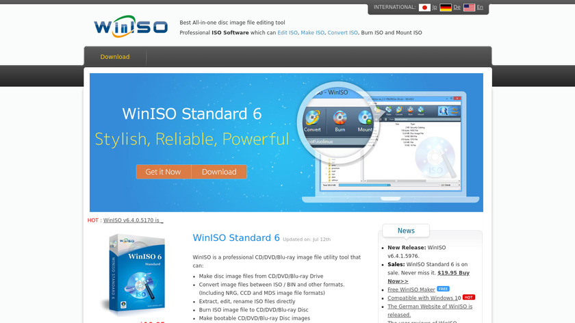 WinISO Landing Page