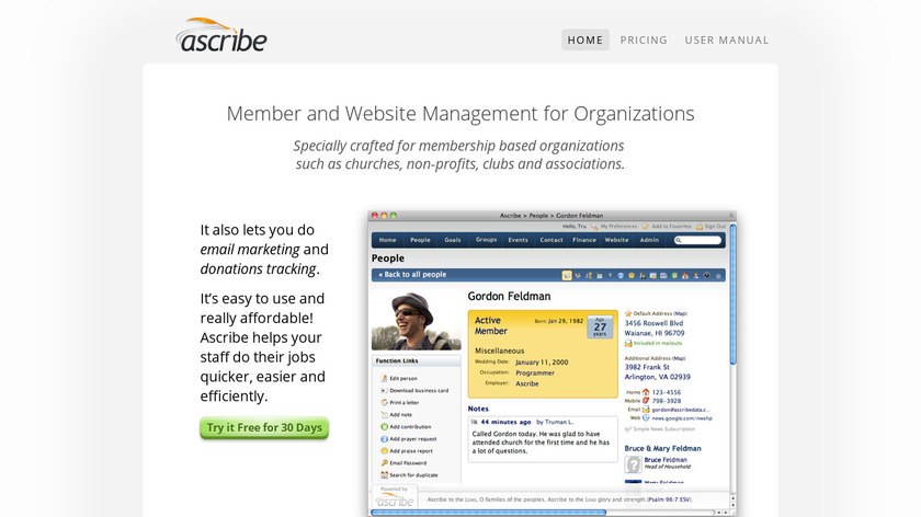 Ascribe Landing Page
