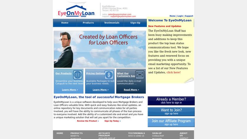 EyeOnMyLoan Landing Page