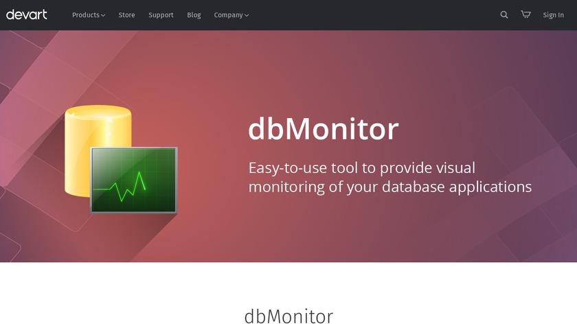 dbMonitor Landing Page