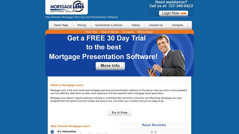 Mortgage Lens Landing Page