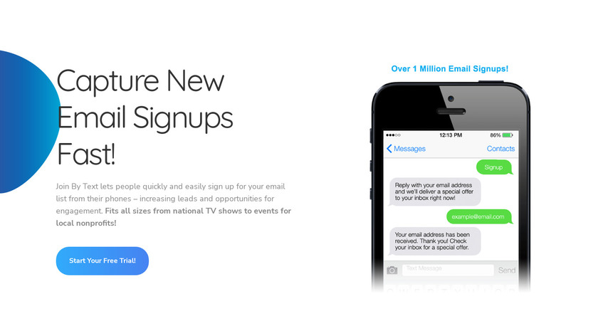 Join By Text Landing Page