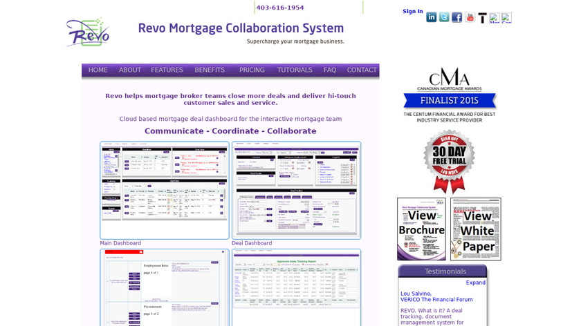 Revo Mortgage Collaboration Landing Page