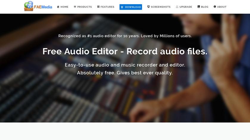 Free Audio Editor Landing Page
