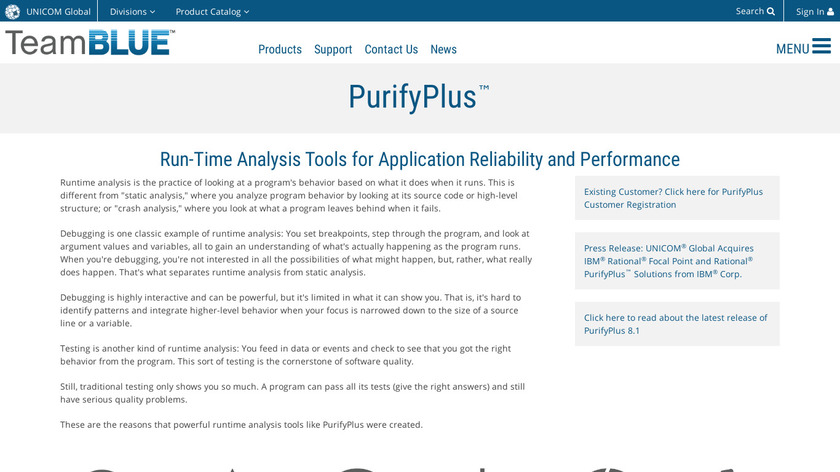 UNICOM PurifyPlus Landing Page