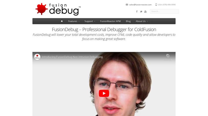 FusionDebug Landing Page