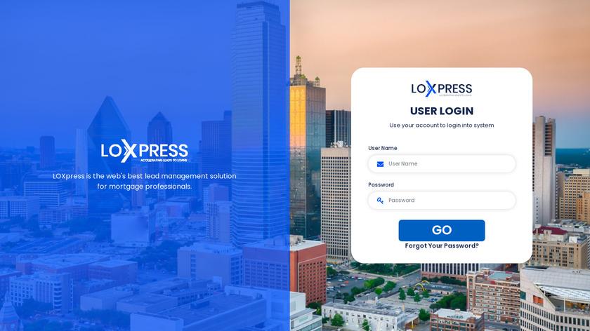 LOXpress Landing Page