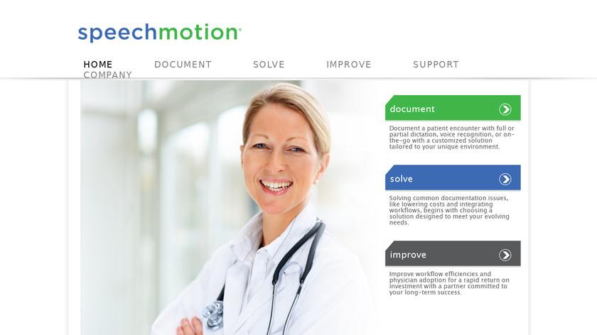 SpeechMotion Landing Page