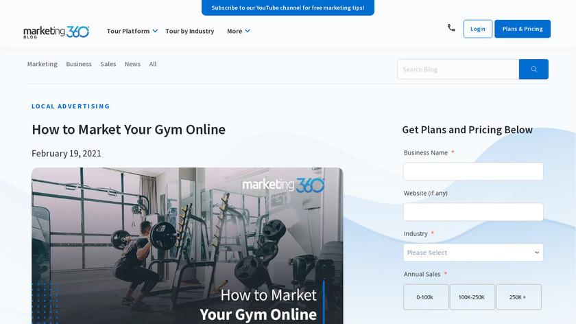 Fitness Marketing 360 Landing Page