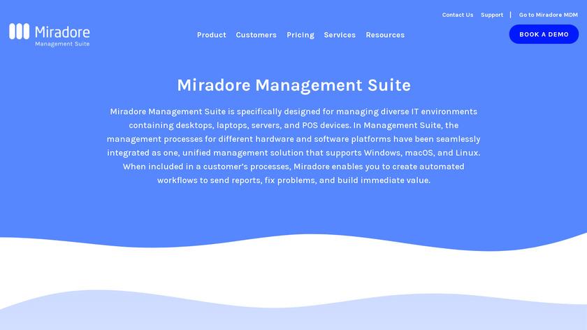 Miradore Management Suite Landing Page