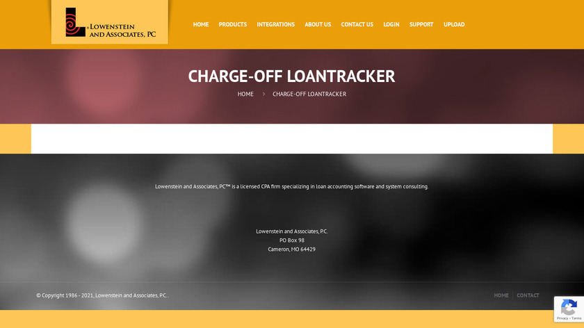 Charge-Off Loan Tracker Landing Page