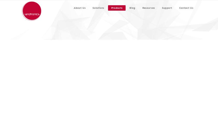 Randtronics DPM Token Manager Landing Page