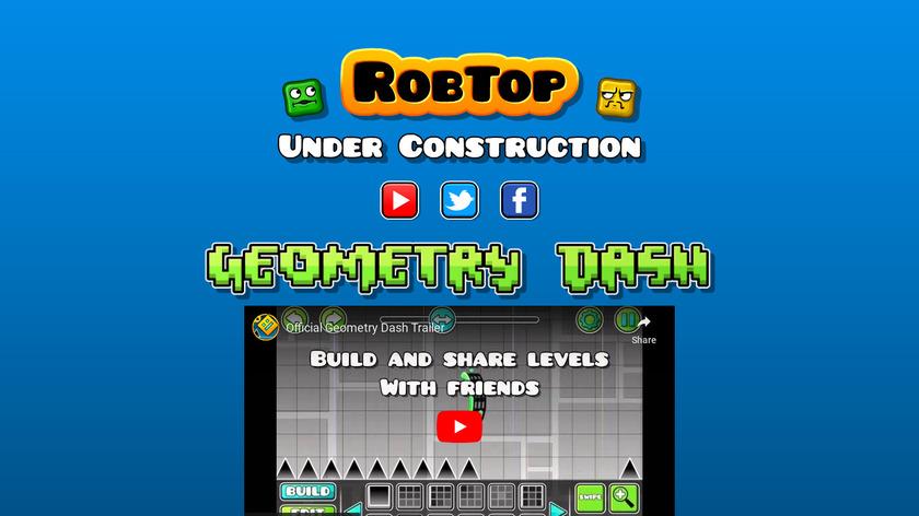 Geometry Dash Landing Page