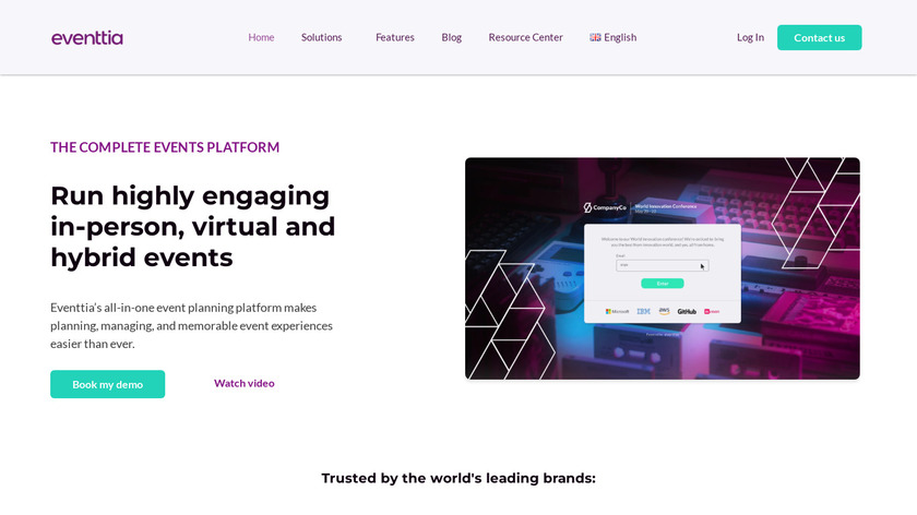 Event Management Technology Landing Page