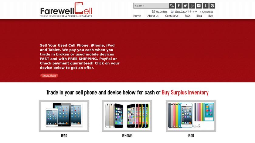 FarewellCell.com Landing Page