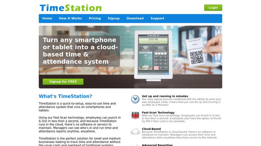 TimeStation Landing Page