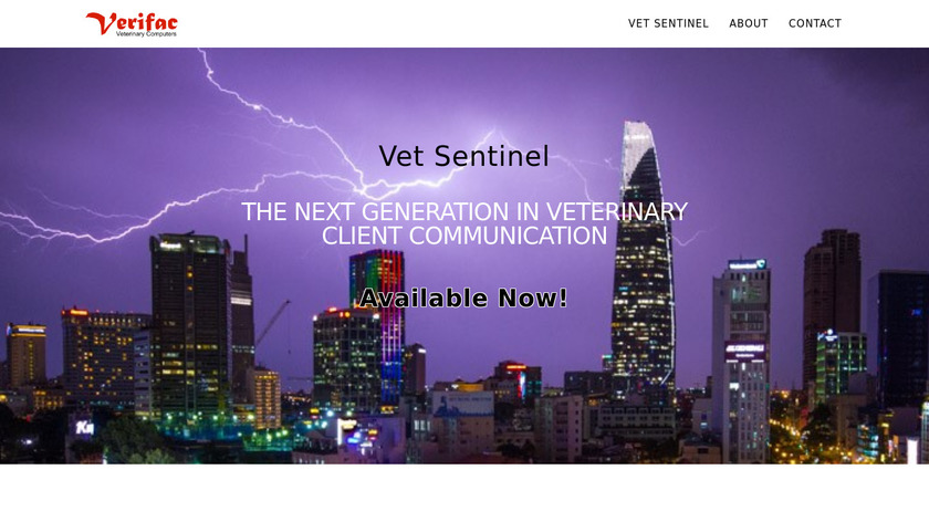 Vet Sentinel Landing Page