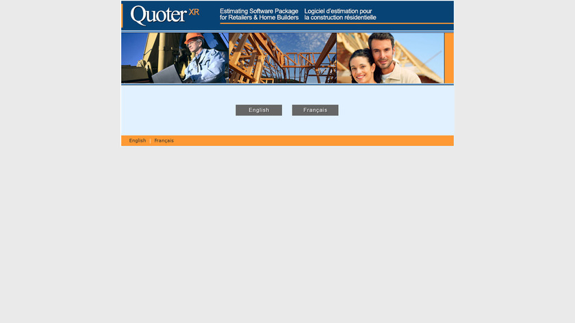 Quoter XR Landing Page