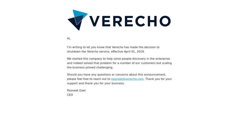 Verecho Landing Page