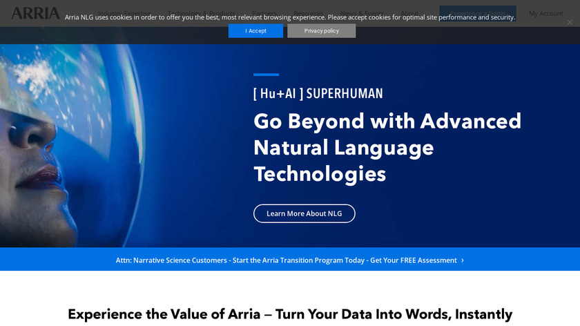 Arria Landing Page