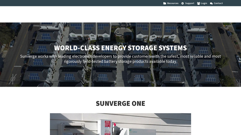 Sunverge Infinity Landing Page
