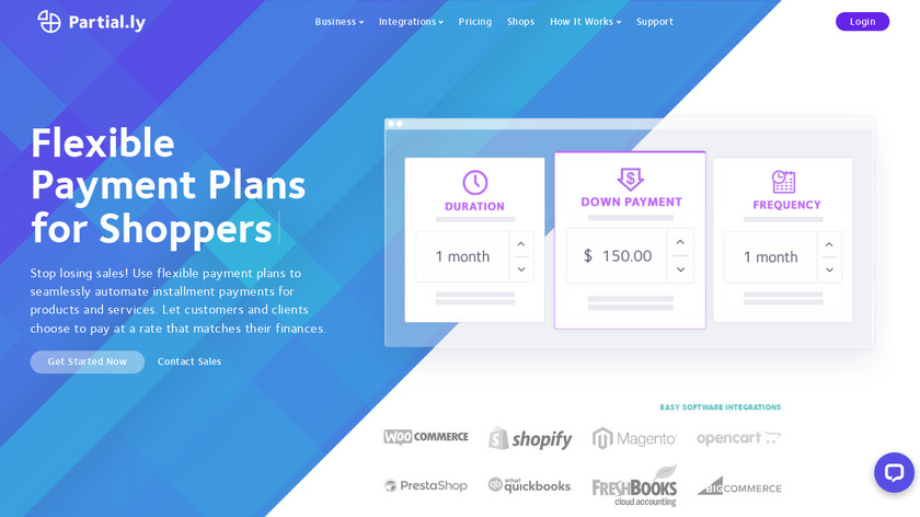 Partial.ly Landing Page