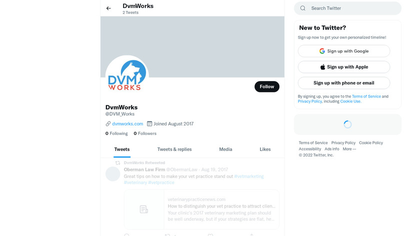 DVMWorks Landing Page