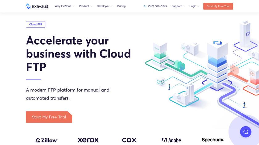 ExaVault Landing Page