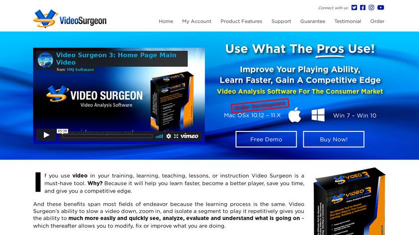 Video Surgeon Landing Page