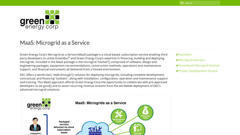 Microgrid Services Landing Page