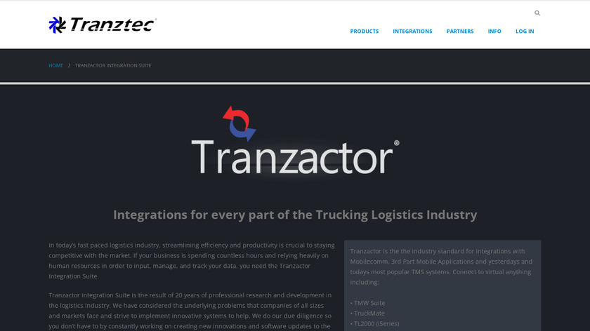Tranzactor Landing Page