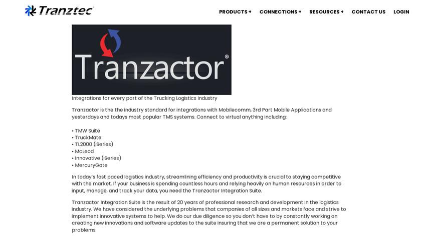 Tranzactor Landing Page