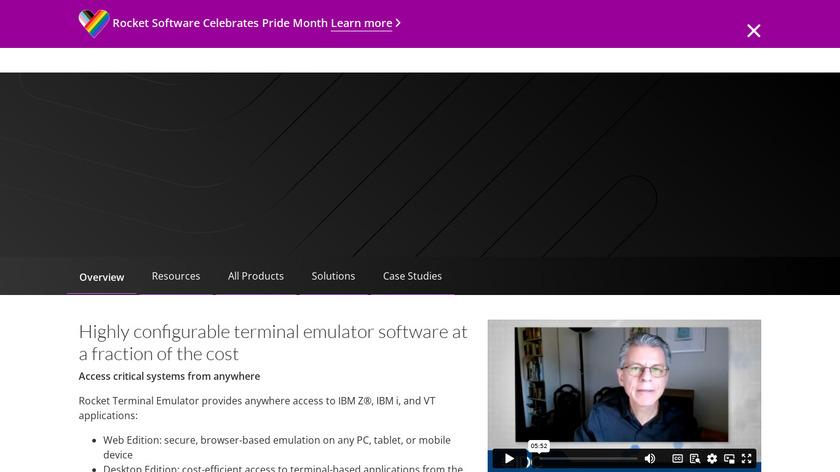 Rocket BlueZoneTerminal Emulation Landing Page