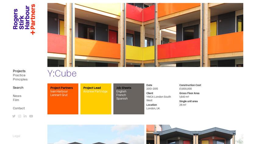Y.Cube Landing Page