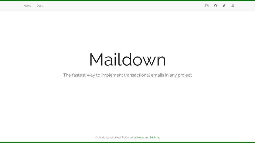 Maildown Landing Page
